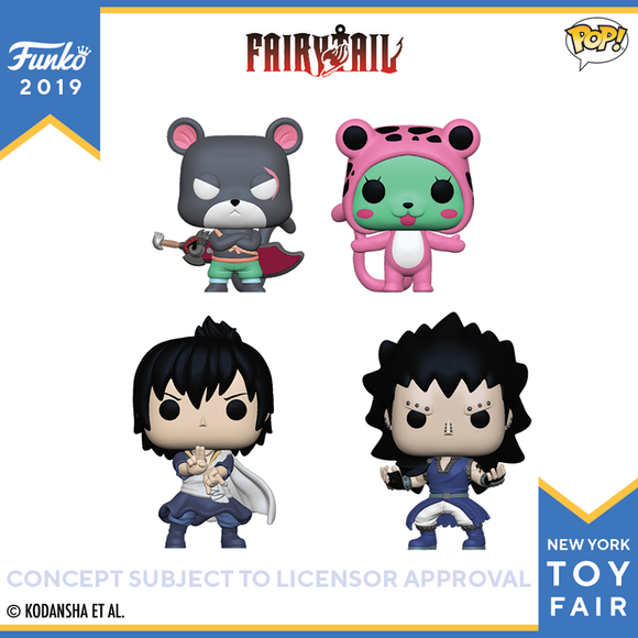 PRE-ORDER MAY 2019 FAIRY TAIL FUNKO POP! ANIME VINYL FIGURE SET of 4 NY TOY FAIR BUNDLE