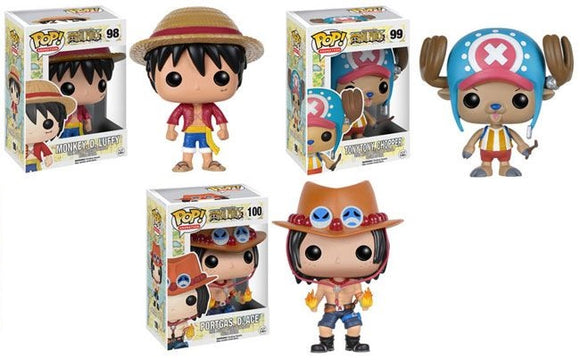 PRE-ORDER AUGUST 2021 FUNKO POP! ANIMATION ONE PIECE S1 BUNDLE SET OF (3)
