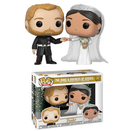 PRE-ORDER FALL 2018 Royals Duke and Duchess of Sussex Funko Pop! Vinyl Figure 2 Pack