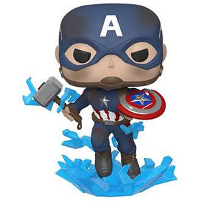 PRE-ORDER TBD 2019 MARVEL AVENGERS ENDGAME CAPTAIN AMERICA WITH MJOLNIR FUNKO POP VINYL FIGURE