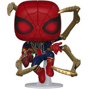 PRE-ORDER TBD 2019 MARVEL AVENGERS ENDGAME IRON SPIDER WITH NANO GAUNTLET FUNKO POP VINYL FIGURE
