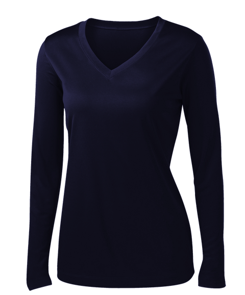 L635 Ladies long sleeve t-shirt, MARINE SCURO