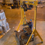 Spanco 1A2510-W A-Series Adjustable Height 1 Ton Gantry Crane