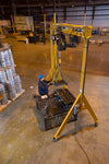 Spanco 7A4016 A-Series Adjustable Height 7-1/2 Ton Gantry Crane