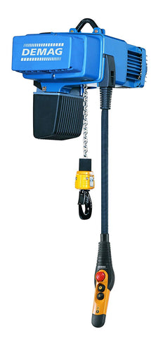 DEMAG Manual Trolley Stationary Chain Hoist DC Pro 5-125 1/1 H8 V28.8/7.2 230/60