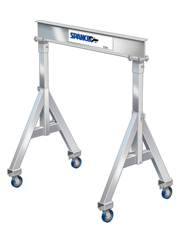Spanco 1ALU1808 All Aluminum Adjustable Height 1 Ton Gantry Crane