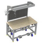 "BUILT Height Adjustable Workbench Butcher Block WKB1000 36""D x 72""W"