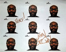 KEV BROWN AUTOGRAPHED STICKER SHEET