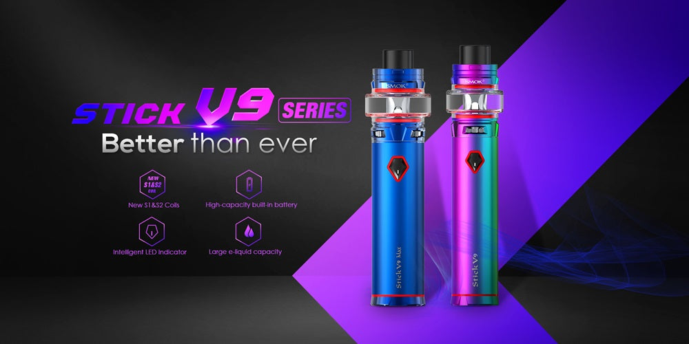 Smok Stick V9 standard and V9 MAX 60W starter kits now available
