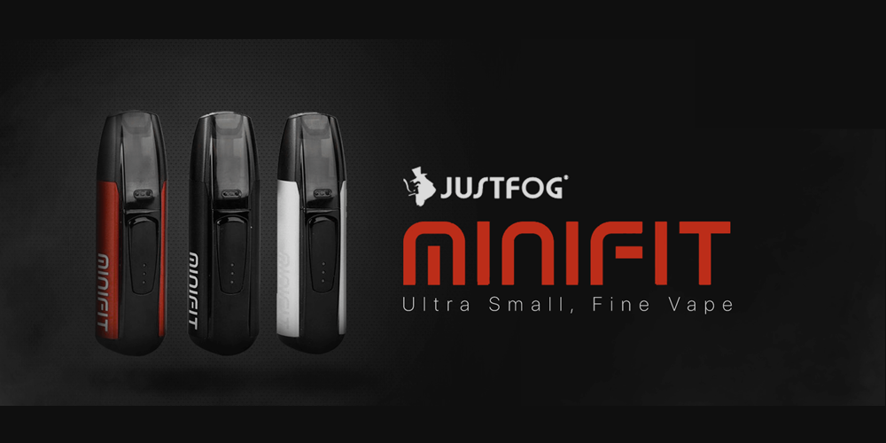 Justfog Minifit Pod Starter Kit. Now available on Doctor Vape Canada.