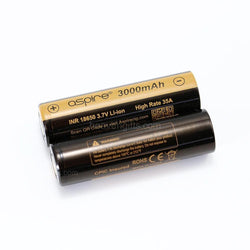 Buy Aspire 18650 Battery 3000mAh 20A/40A at Doctor Vape