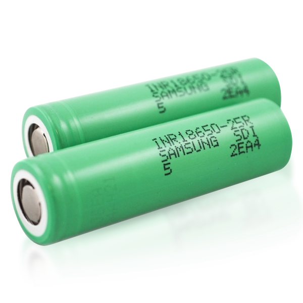 Buy Samsung 25R 18650 2500mAh 20A Battery (2-Pack) at Doctor Vape