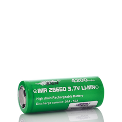 Buy Efest IMR 26650 4200mAh 50A Green Flat Top Battery at Doctor Vape