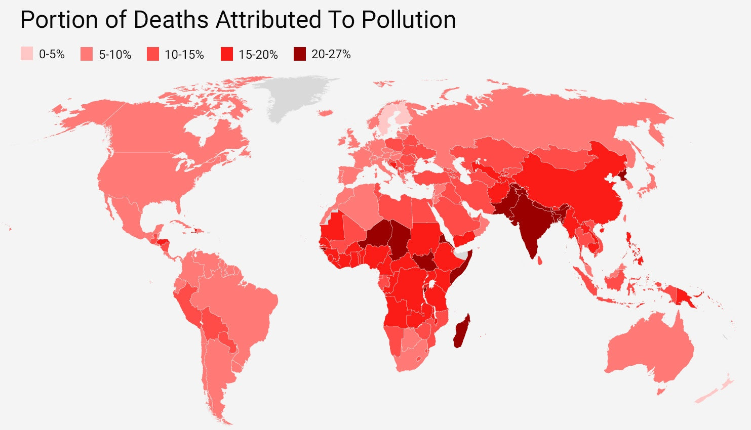 Pollution deaths attributed to pollution