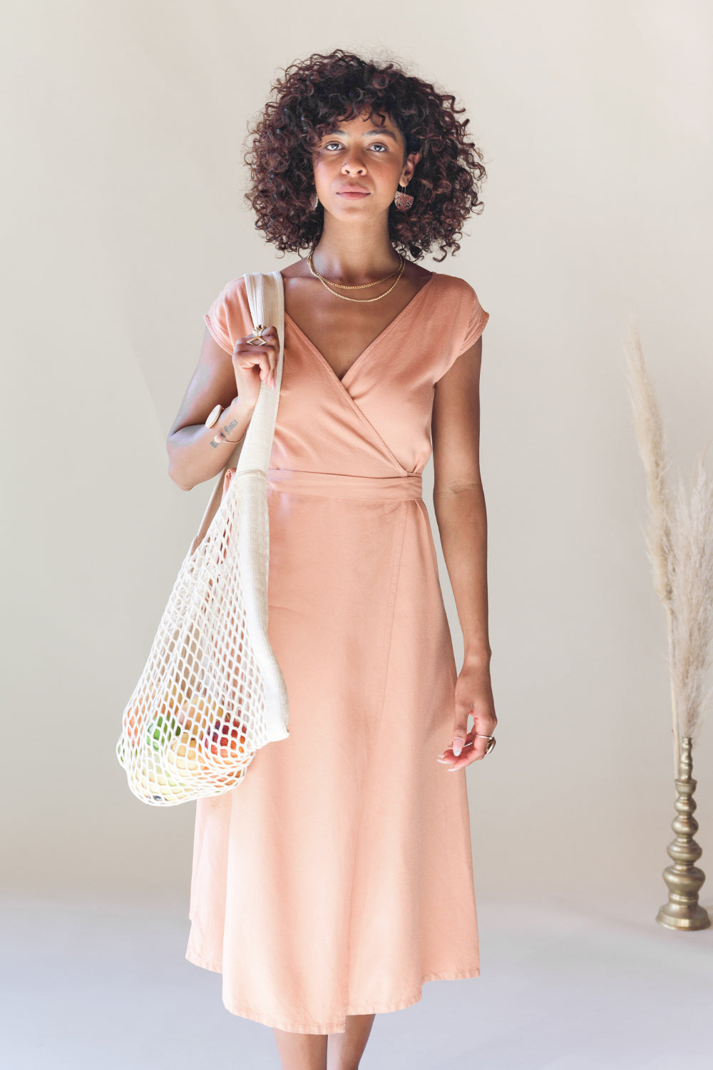 Wrap It Up Dress // Peach
