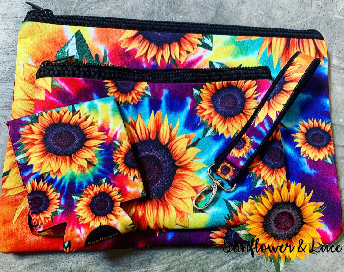 Tie dye sunflower set