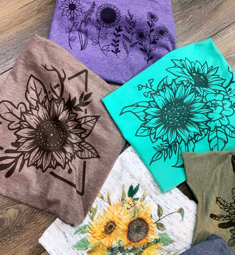 One mystery sunflower graphic tee