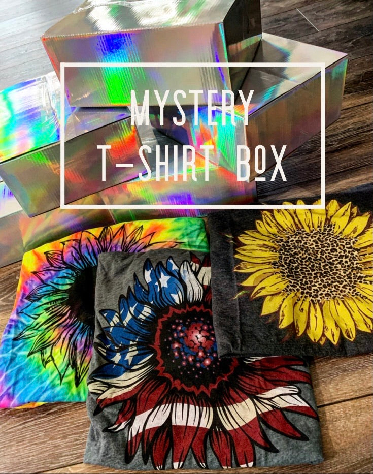 MYSTERY GRAPHIC TEE SUNFLOWER BOX (READ DESCRIPTION BEFORE ORDERING)*