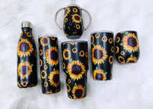 Sunflower stainless steel tumbler cups