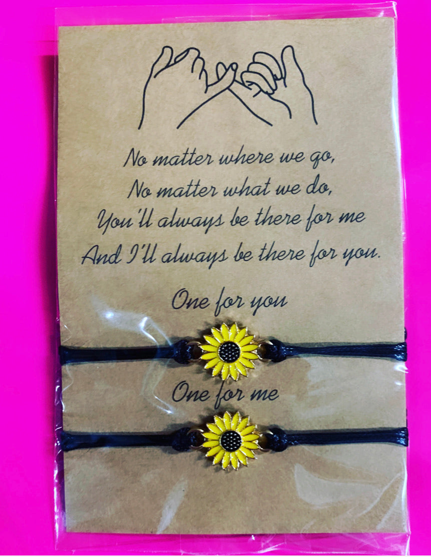 Sunflower best friend bracelets