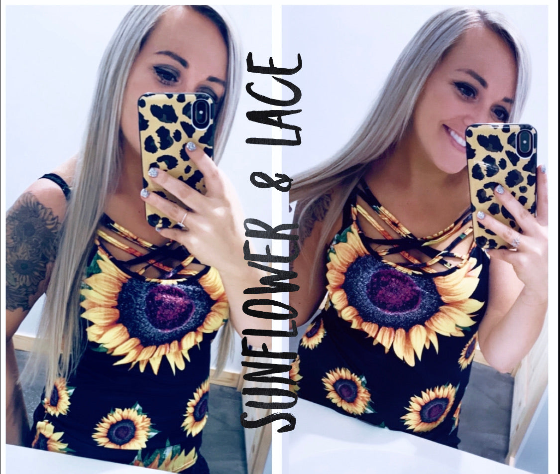 Sunflower Criss cross tank top SALE