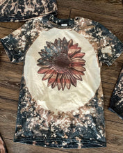 Bleach sunflower American flag graphic tee