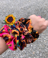 Sunflower scrunchies