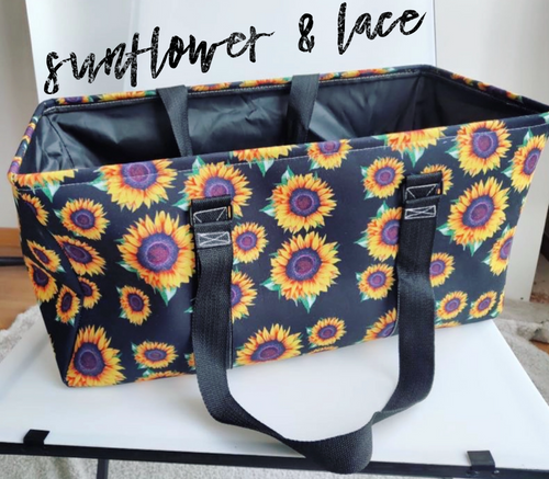 Sunflower large utility tote bag