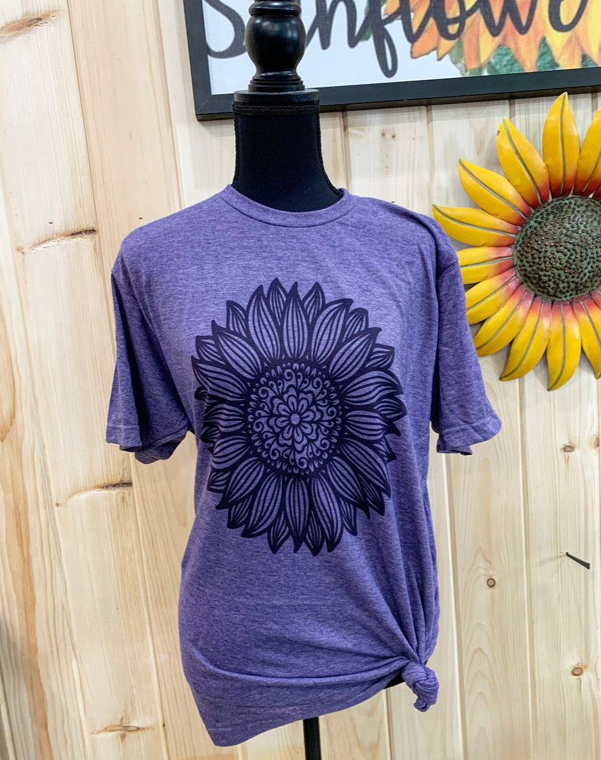 Boho sunflower graphic tee