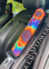 Sunflower seat belt cover (set of 2)