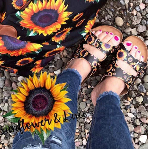 SUNFLOWER SANDALS PREORDER- will not ship until the end of March/beginning of April.