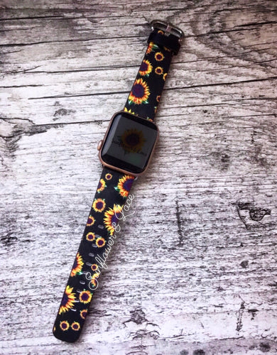 SUNFLOWER LEATHER WATCH BAND