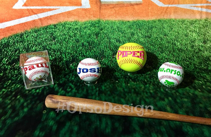 Heirloom/Commemorative/Personalized Baseball or Softball - Single Panel