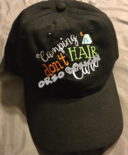 Hair Dont Care Embroidered Caps!