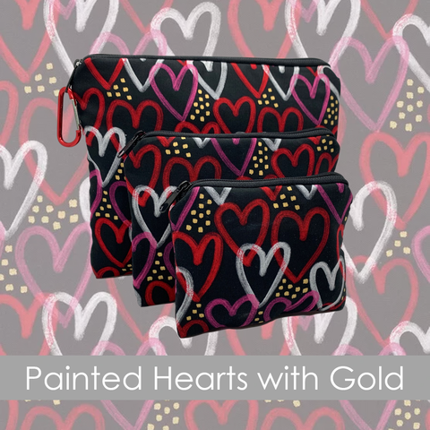 Painted Hearts with Gold | Collection