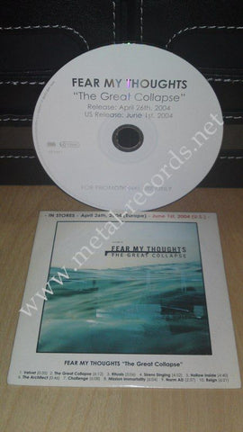 Fear My Thoughts - The Great Collapse (cd promo)
