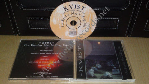 Kvist- For Kunsten Maa Vi Evik Vike (cd 1st press, no barcode)