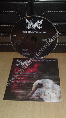 Mayhem - Grand Declaration Of War (cd promo)