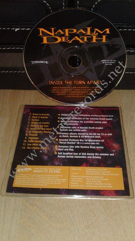 Napalm Death - Inside The Torn Apart (cd promo)