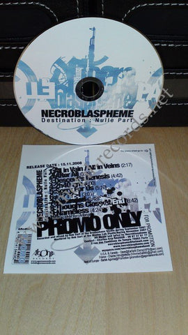Necroblaspheme - Destination : Nulle Part (cd promo)