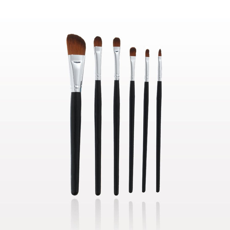 The Gilded Girl - 6-Piece Black Brush Set