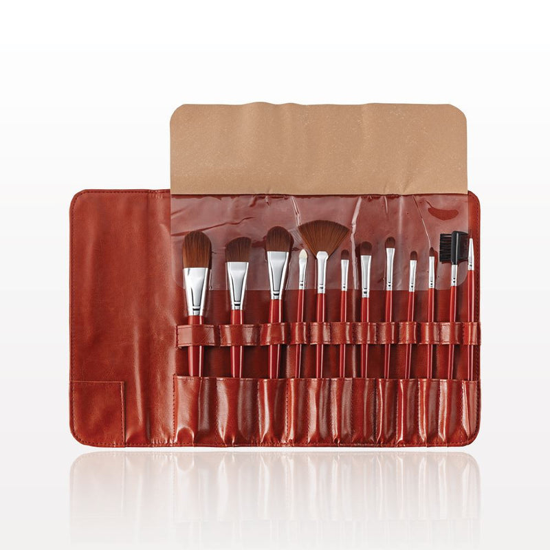 The Gilded Girl - 12-Piece Brush Set with Fold and Snap Case