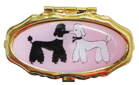 Andrea Garland - Poodles, Pill Box Lip Balm