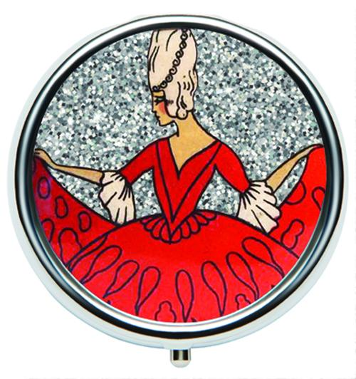 Andrea Garland - Art Deco Glitter: Baroque, Pill Box Lip Balm
