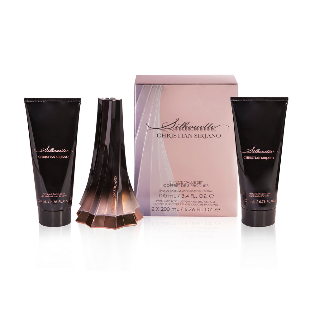 Christian Siriano Silhouette 3.4 oz EDP, Body Lotion & Shower Gel Gift Set