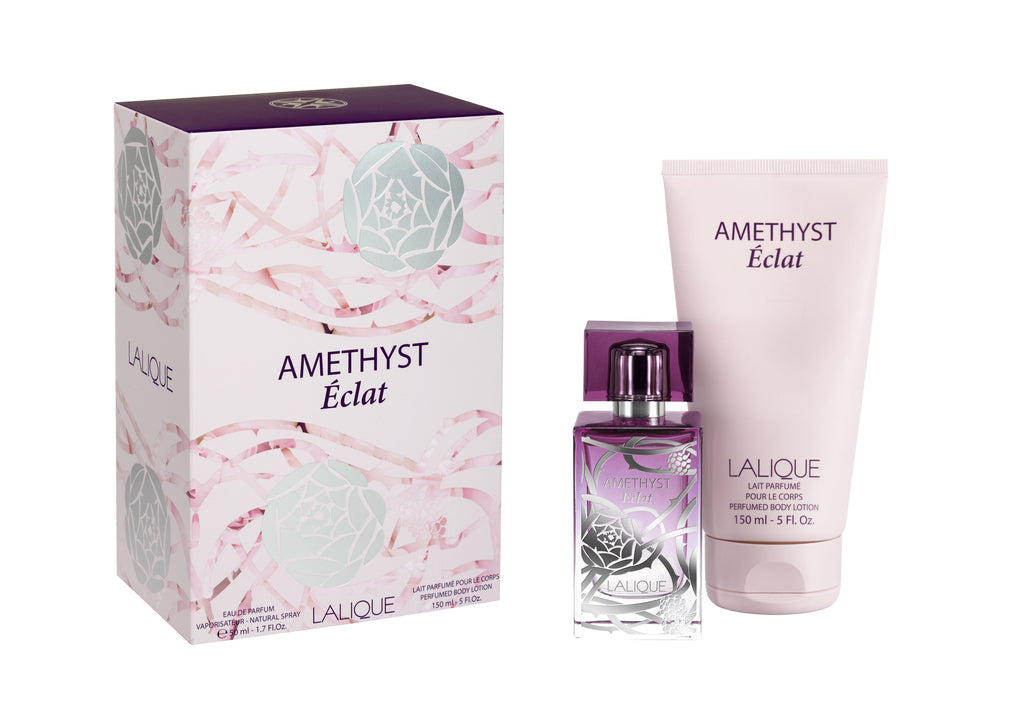 Lalique Amethyst Éclat 1.7 oz EDP & Body Lotion Gift Set