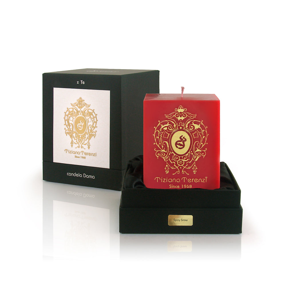 Spicy Snow Dama Candle, Limited Holiday Edition - Red Cubed Air Therapy Candle