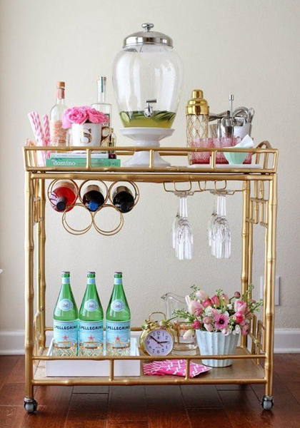 Bar cart Styling Worth Throwing A Party For