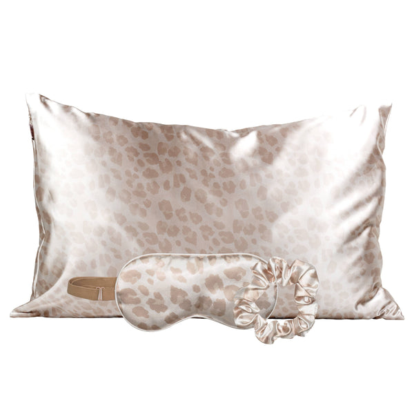 Satin Sleep Set - Leopard by Kitsch