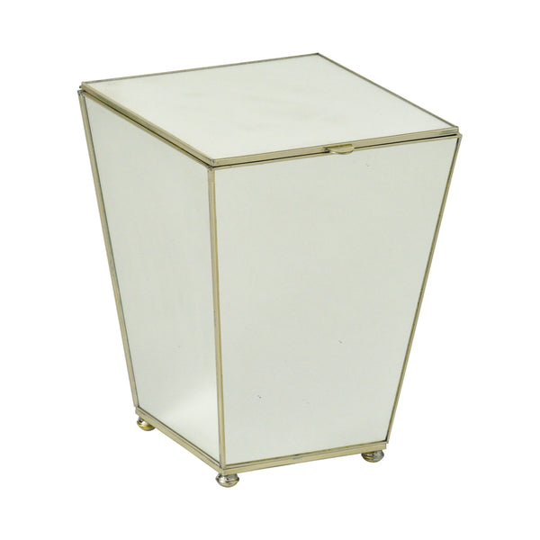 New Mirror waste bin with top